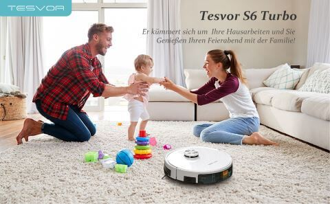 robot hut bui Tesvor S6 Turbo thuy si